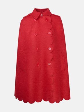 REDVALENTINO - RED BOUCLE CAPE