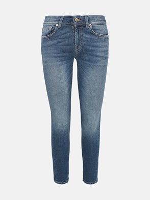 7 FOR ALL MANKIND - JEANS ROXANNE SKINNY BLU