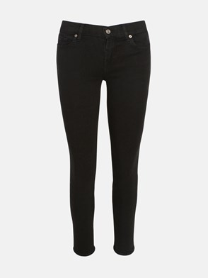 7 FOR ALL MANKIND - BLACK ROXANNE SKINNY JEANS