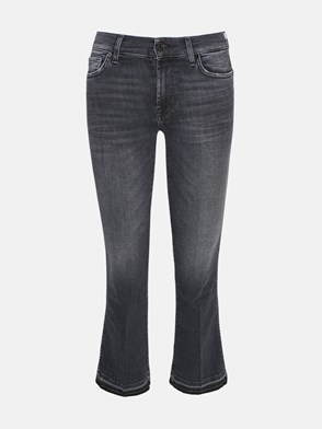 7 FOR ALL MANKIND - BLACK SLIM BOOT JEANS