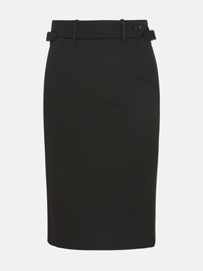 REDVALENTINO - BLACK PENCIL SKIRT