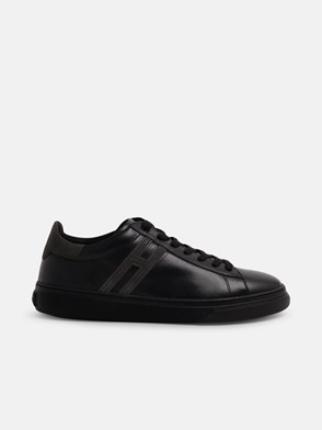 HOGAN - BLACK CANALETTO SNEAKERS