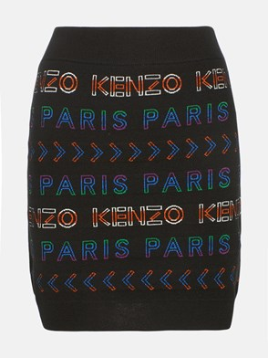 KENZO - GONNA MINILOGO COLORATO NERA