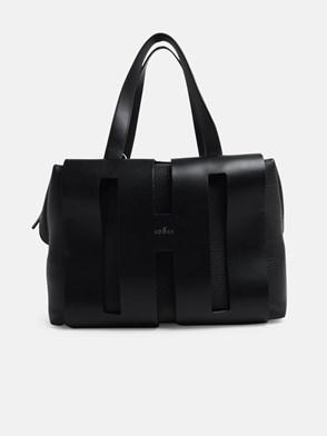 HOGAN - BLACK SUEDE BOWLING BAG