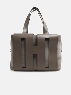 HOGAN - GREY SUEDE BOWLING BAG