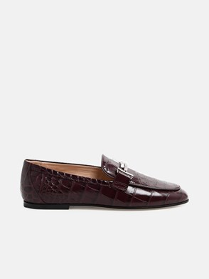 TOD'S - BURGUNDY LOAFERS