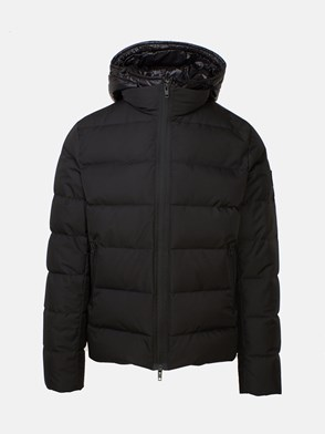 FAY - BLACK DOUBLE-ZIPPERED SHORT COAT