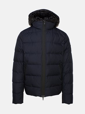 FAY - BLUE DOUBLE-ZIPPERED SHORT COAT