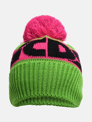 GCDS - GREEN AND FUCHSIA BEANIE