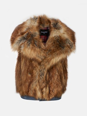 DSQUARED2 - BEIGE ECO-FUR VEST