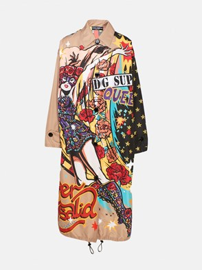 DOLCE & GABBANA - TRENCH SUPEREROINE MULTICOLOR