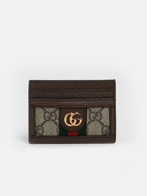 GUCCI - BROWN GG CARD HOLDER