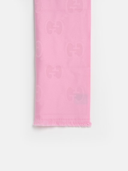 GUCCI PINK LADY NEST SCARF