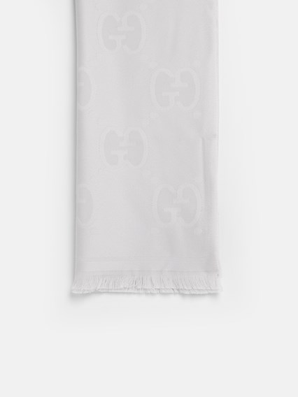 GUCCI WHITE LADY NEST SCARF