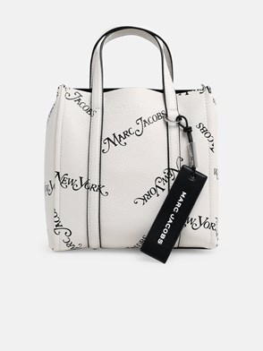 MARC JACOBS - BLACK AND WHITE THE TAG 21 TOTE BAG