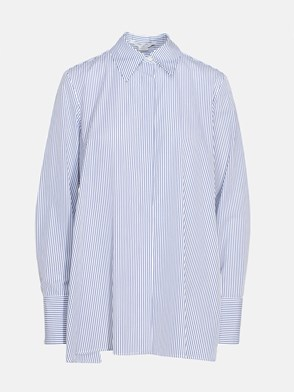 STELLA McCARTNEY - WHITE AND LIGHT BLUE MULLEWA SHIRT