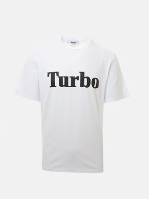 MSGM - WHITE TURBO T-SHIRT