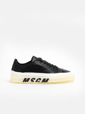 MSGM - BLACK SOLE LOGO SNEAKERS