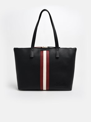 BALLY - BLACK TRACIE WEB SHOPPER BAG