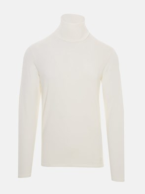 JIL SANDER - WHITE TURTLENECK T-SHIRT