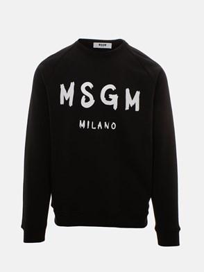 MSGM - FELPA MAXI LOGO NERA