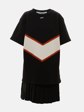 OFF WHITE c/o VIRGIL ABLOH - BLACK DONNA SWEATSHIRT DRESS