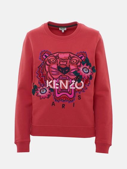 KENZO CORAL RED TIGER SWEATSHIRT