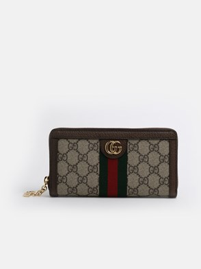GUCCI - GG SUPREME OPHIDIA WALLET