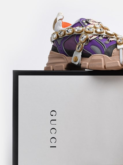 GUCCI LILAC FLASHTRECK SNEAKERS