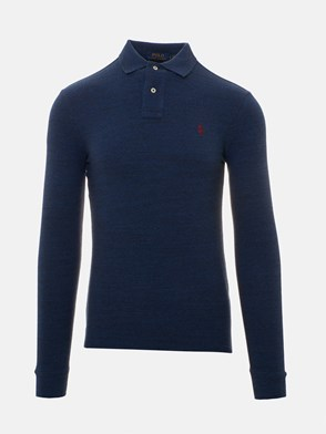 POLO RALPH LAUREN - BLUE LONG-SLEEVED POLO SHIRT