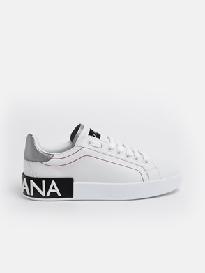 DOLCE & GABBANA - SNEAKERS ARGENTO/BIANCHE