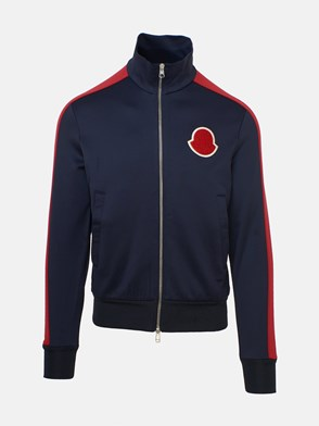 MONCLER - BLUE/RED CARDIGAN