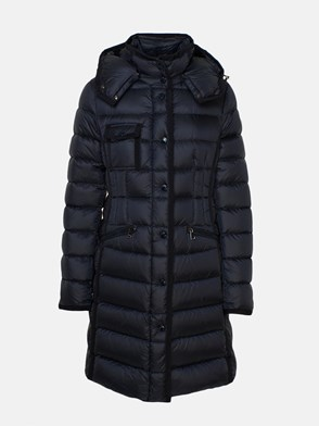 MONCLER - BLUE LONG HERMINE DOWN JACKET
