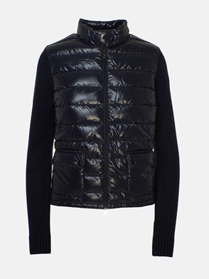 MONCLER - BLUE DOWN JACKET/SWEATER