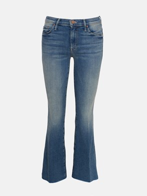 MOTHER - BLUE WEEKENDER FRAY JEANS