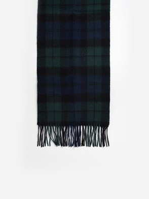 BARBOUR - GREEN AND BLUE SCARF