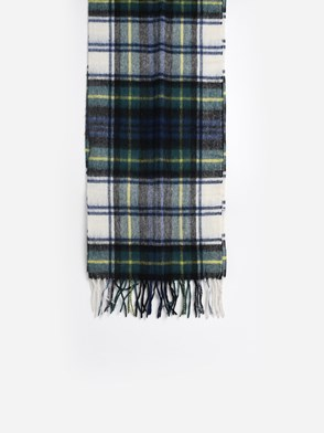 BARBOUR - GREEN AND WHITE SCARF