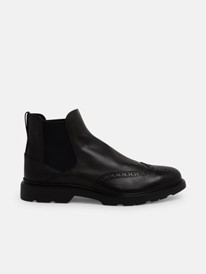 HOGAN - BROWN H393 CHELSEA BOOTS