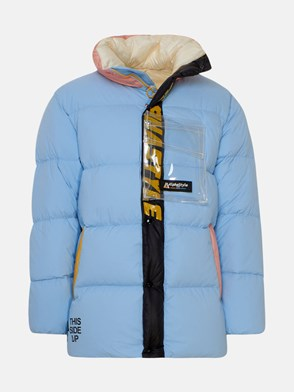 ALPHASTYLE - LIGHT BLUE NAYAN SHORT DOWN JACKET