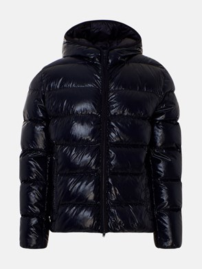 FAY - BLUE SHINY SHORT DOWN JACKET