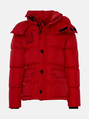 MONCLER - RED DARY SHORT DOWN JACKET