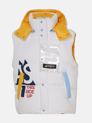 ALPHASTYLE - WHITE AND YELLOW VEST