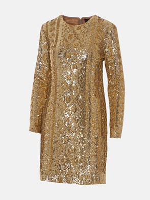 MAX MARA - GOLD NICIA DRESS