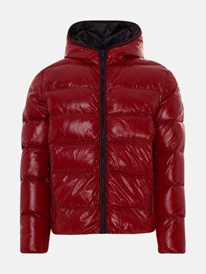 FAY - RED SHINY SHORT DOWN JACKET