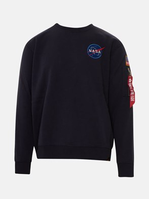 ALPHA INDUSTRIES - BLUE SWEATSHIRT