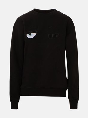 CHIARA FERRAGNI - BLACK FLIRTING EYE SWEATSHIRT
