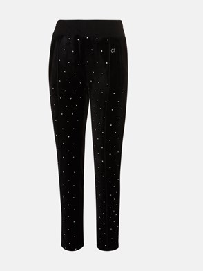 CHIARA FERRAGNI - BLACK CHENILLE PANTS