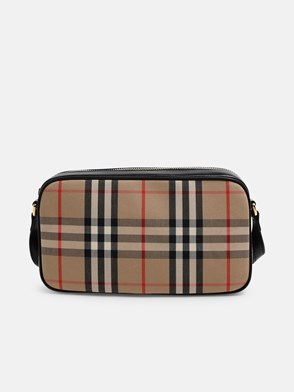 BURBERRY - CAMERA CHECK ELONGATED BAG