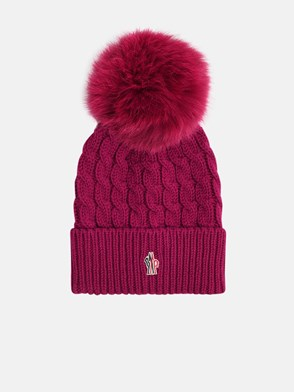 MONCLER GRENOBLE - PURPLE BEANIE