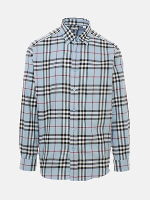 BURBERRY - LIGHT BLUE CHAMBERS CHECK SHIRT